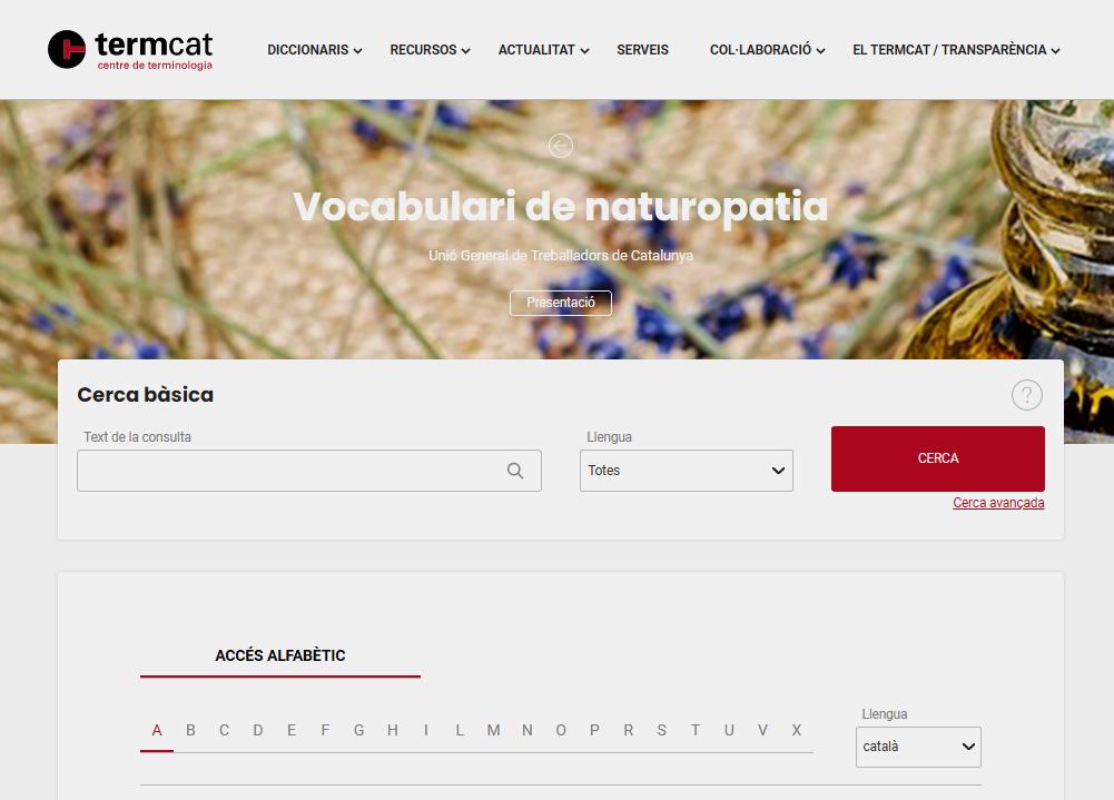 Vocabulari naturopatia