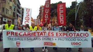 Manifestació del 1r de Maig a Tortosa