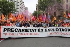 Manifestació del 1r de Maig a Barcelona