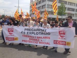 Manifestació del 1r de Maig a Lleida